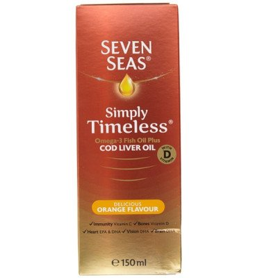 Seven seas pure cod liver oil range & orange syrup 150ml