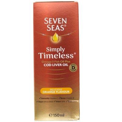 Seven seas pure cod liver oil range & orange syrup 150ml