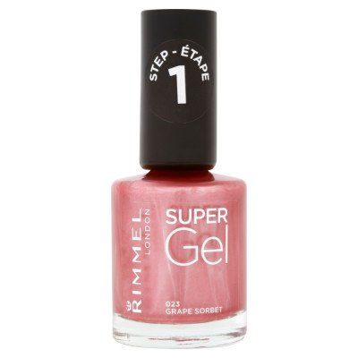 Rimmel nail care nail polish super gel grape