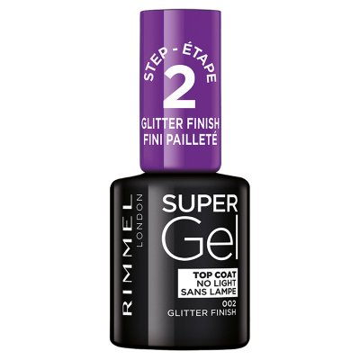 Rimmel Super Gel Nail Polish Step 2 002 Glitter Finish