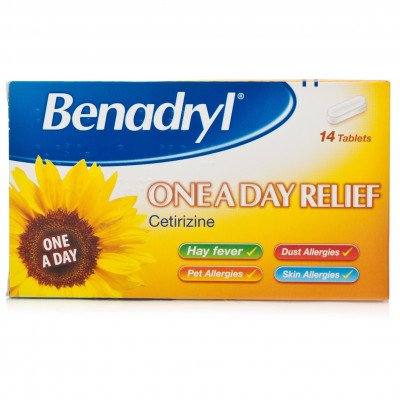 BENADRYL tablets one-a-day 14
