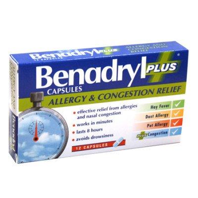 BENADRYL PLUS CAPS 12