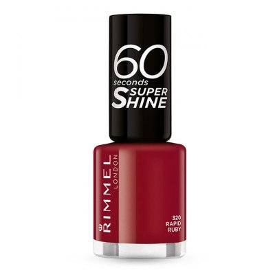 Rimmel 60 Seconds Super-Shine Nail Polish - Rapid Ruby