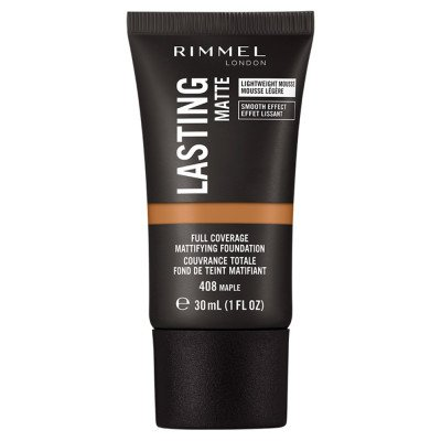 Rimmel London Lasting Matte Foundation 408 Maple 30ml