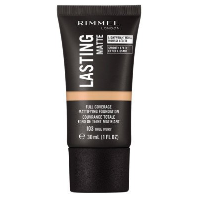 Rimmel London Lasting Matte Foundation 103 True Ivory 30ml