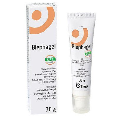 Blephagel eyelids & eyelashes preservative free gel 30g