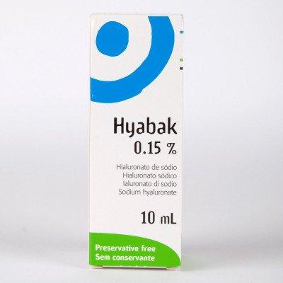 Hyabak ocular lubricant 0.15% 10ml