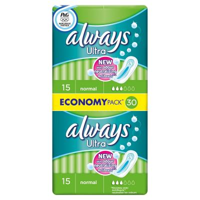 Always ultra sanitary towels normal duo pack 30 pack