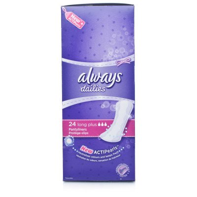 Always incontinence range liner long plus 24 pack
