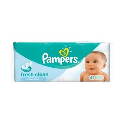 Pampers baby wipes baby fresh fresh clean refill 64 pack