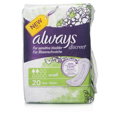 Always incontinence range Discreet  pads small  20