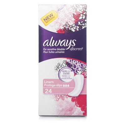 Always incontinence range Discreet  liners liners 24