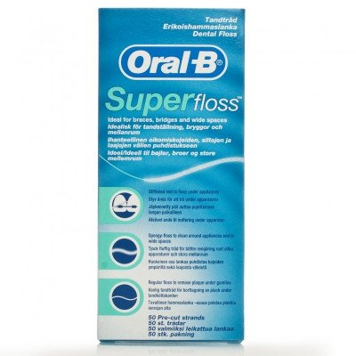 Oral-b dental floss Superfloss 50 pack