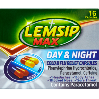 Lemsip max day & night cold & flu relief capsules 16 pack