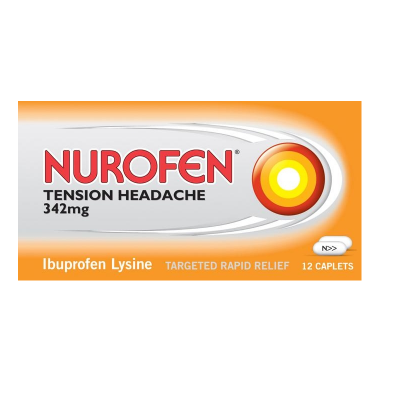 Nurofen tension headache tablets 342mg 12 pack