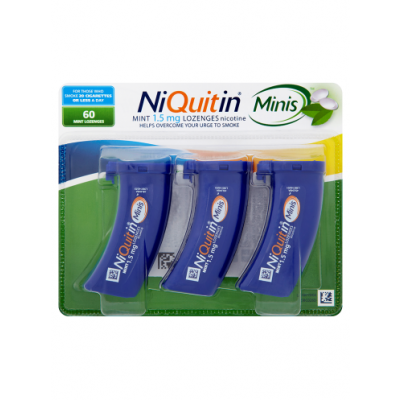 Niquitin lozenges mini mint 1.5mg 60 pack
