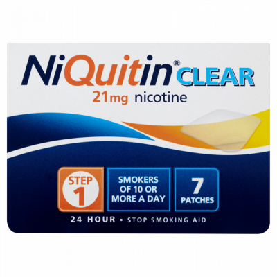 Niquitin patches clear 21mg 7 pack