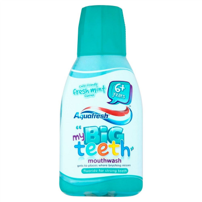 Aquafresh mouthwash big teeth blue 300ml