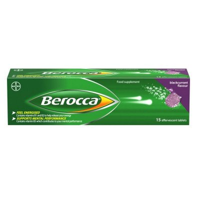BEROCCA vitamin B effervescent tablets blackcurrant  15