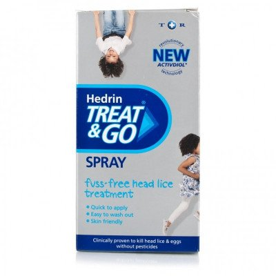 Hedrin treat & go head lice spray 60ml