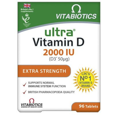 ULTRA Vitamin D tablets 2000iu  96
