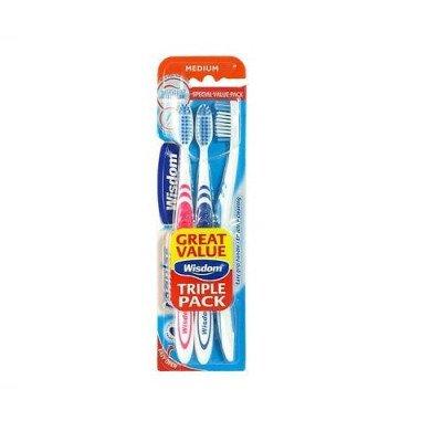 Wisdom toothbrushes regular medium 3-pack