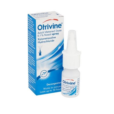 Otrivine adult nasal spray metered dose 0.1% 10ml