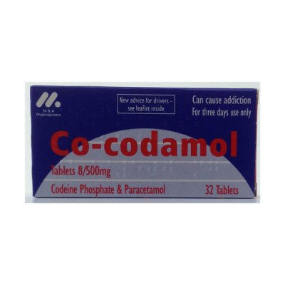 Co-Codamol tabs 8/500mg 32
