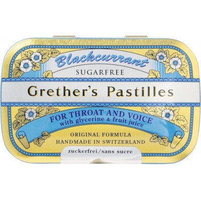 Grether's fruit pastilles sugar-free blackcurrant 60g