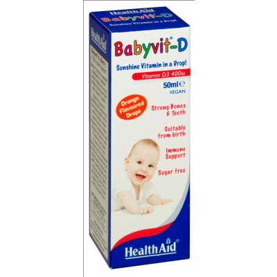 Healthaid vitamin D supplements vitamin D babyvit - D 50ml