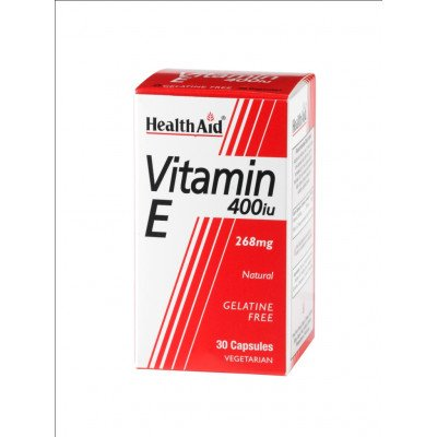Healthaid vitamin E supplements Vit E capsules 400iu 30 pack