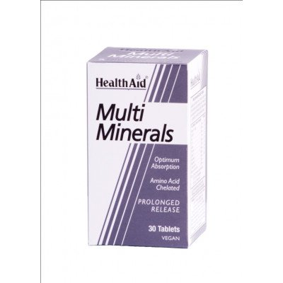 Healthaid mineral supplements multimineral tablets p/r 30 pack