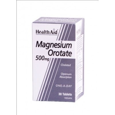 Healthaid mineral supplements magnesium orotate tablets 500mg 30 pack