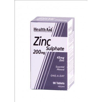 Healthaid mineral supplements zinc sulfate tablets 200mg 90 pack