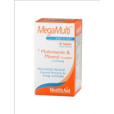 Healthaid multivitamin & mineral supplements strong mega multis with ginseng prolonged release tablets 30 pack
