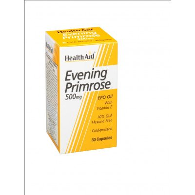 Healthaid supplements evening primrose oil & vitamin E vegicaps 500mg 30 pack