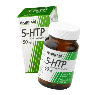 Healthaid amino acid supplements L-5 hydroxytryptophan tablets 50mg 60 pack