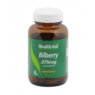 Healthaid herbal tablets bilberry 550mg 30 pack