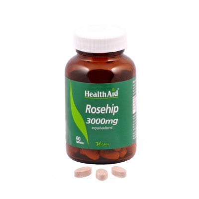 Healthaid supplements rosehip + vitamin C tablets 3000mg/60mg 60 pack
