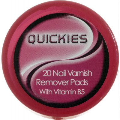 Quickies convenience nail varnish remover pads 20 pack