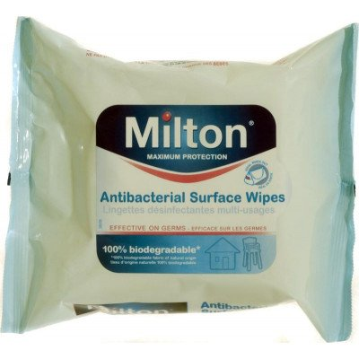 Milton 2 antibacterial surface wipes 30 pack