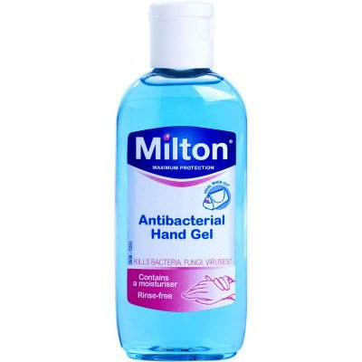 Milton 2 antibacterial hand gel 100ml