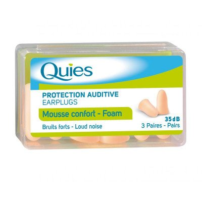 Quies foam ear plugs foam 3 pack