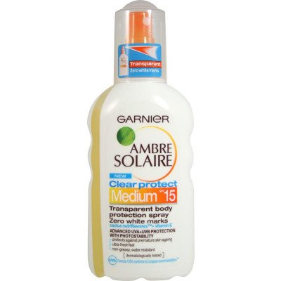 Ambre solaire UV clear spray spf 15 200ml