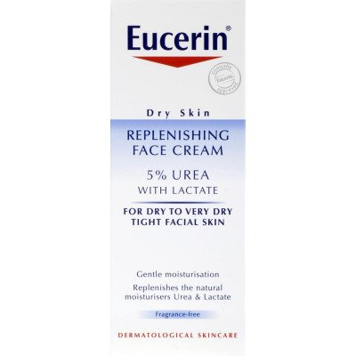 Eucerin dry skin with lactate replenshing face cream 5% 50ml