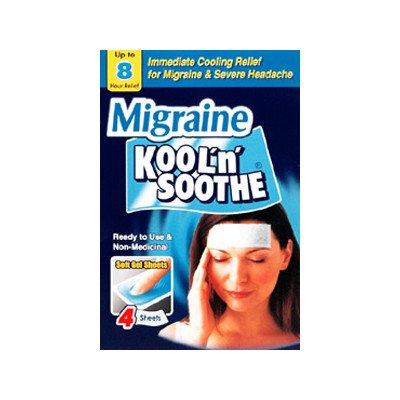 Kool 'n' soothe migraine cooling strips 4 pack