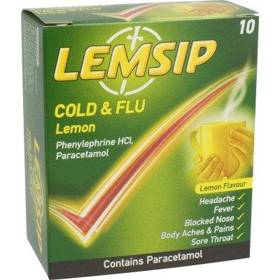 Lemsip cold & flu lemon 10 pack
