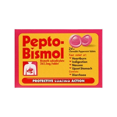 Pepto-bismol tablets 87.6mg/5ml 24 pack