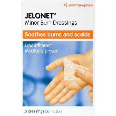 Jelonet paraffin gauze dressing consumer/OTC pack 5cm x 5cm 5 pack