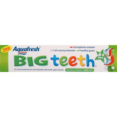Aquafresh toothpaste childrens big teeth 50ml